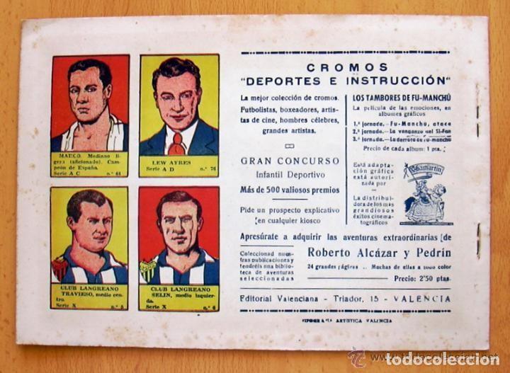 Tebeos: Los tambores de Fu-Manchú - Selección aventurera - Valenciana 1943, completa 3 ejemplares, ver fotos - Foto 5 - 128249547