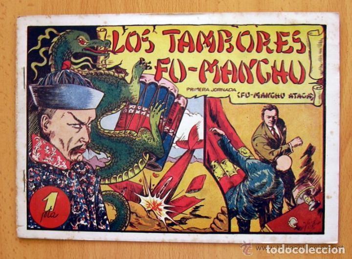 Tebeos: Los tambores de Fu-Manchú - Selección aventurera - Valenciana 1943, completa 3 ejemplares, ver fotos - Foto 6 - 128249547