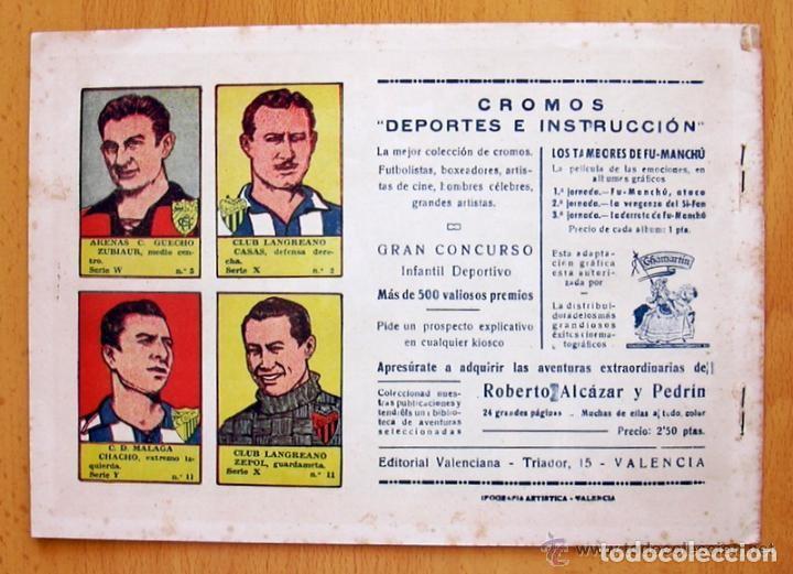Tebeos: Los tambores de Fu-Manchú - Selección aventurera - Valenciana 1943, completa 3 ejemplares, ver fotos - Foto 7 - 128249547