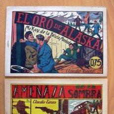 Tebeos: MCKAY DE LA POLICIA MONTADA - SELECCIÓN AVENTURERA - VALENCIANA 1943, COMPLETA 2 EJEMPLARES. Lote 128249839
