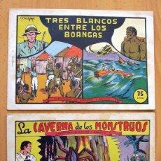 Tebeos: RICHARD Y BAKUTU - SELECCIÓN AVENTURERA - VALENCIANA 1944, COLECCIÓN COMPLETA 2 EJEMPLARES. Lote 128250427