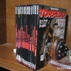 Tebeos: TORPEDO. BERNET / ABULI. COLECCION COMPLETA 15 ALBUMES EN TAPA DURA. AÑOS 90. GLENAT.. Lote 128525519