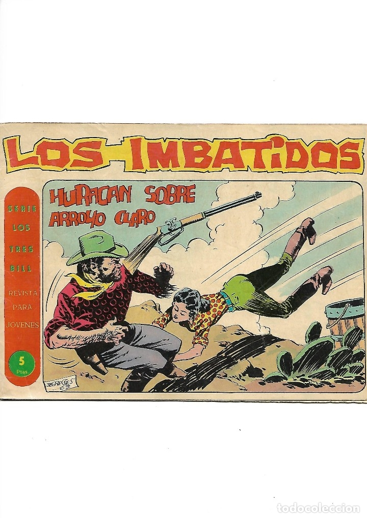 Tebeos: Los Imbatidos Año 1963 Lote de 23 Tebeos Originales Dibujos de Vicente Segrelles Editorial Maga. - Foto 12 - 128696987