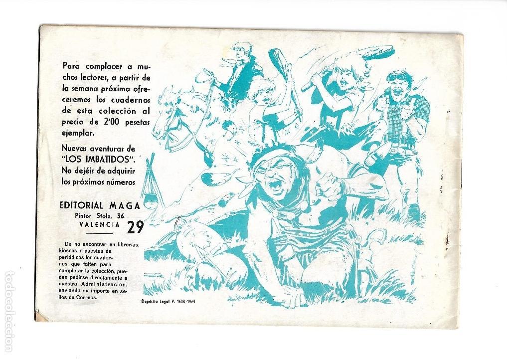 Tebeos: Los Imbatidos Año 1963 Lote de 23 Tebeos Originales Dibujos de Vicente Segrelles Editorial Maga. - Foto 45 - 128696987