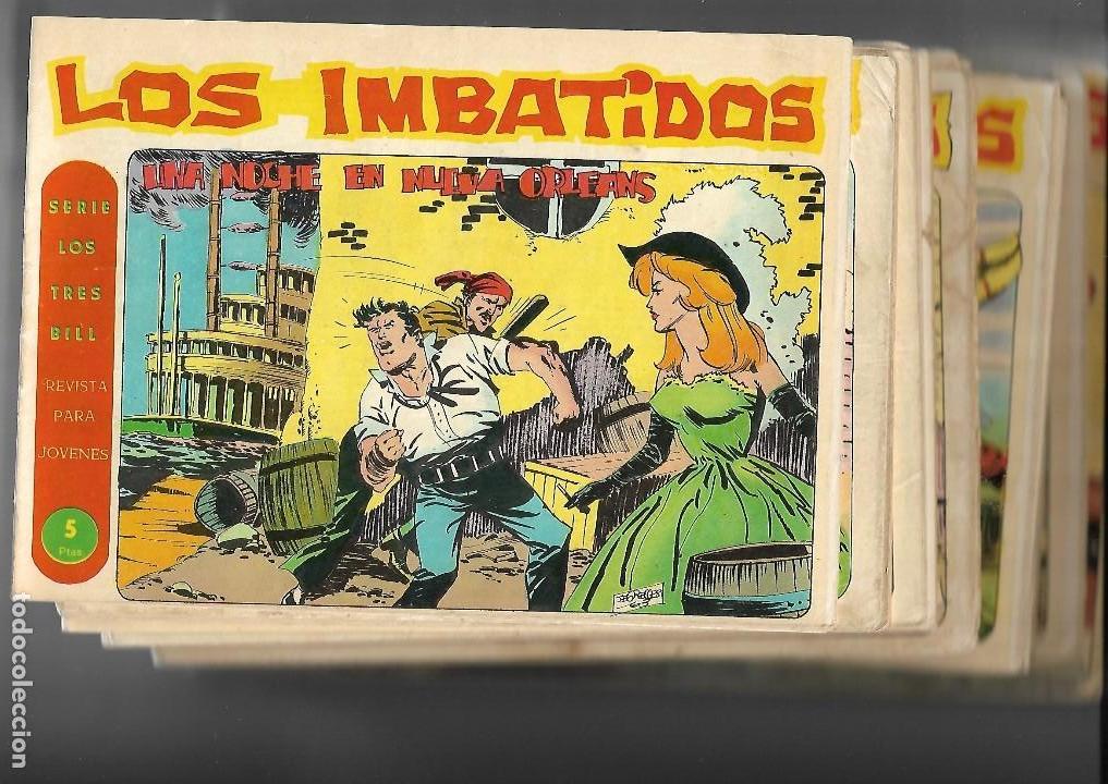 LOS IMBATIDOS AÑO 1963 LOTE DE 23 TEBEOS ORIGINALES DIBUJOS DE VICENTE SEGRELLES EDITORIAL MAGA. (Tebeos y Comics - Tebeos Colecciones y Lotes Avanzados)