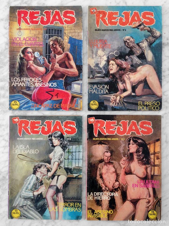REJAS - LOTE DE 4 CÓMICS - NºS 2-8-10-15 - ED. ZINCO - 1987-1988 (Tebeos y Comics - Tebeos Pequeños Lotes de Conjunto)