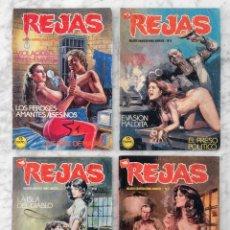 Tebeos: REJAS - LOTE DE 4 CÓMICS - NºS 2-8-10-15 - ED. ZINCO - 1987-1988. Lote 129501851