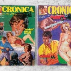 Tebeos: CRÓNICA NEGRA, POR ALEX Y MARGA - LOTE DE 2 CÓMICS - NºS 1-14 - ED. SUOMI - 1987-1988. Lote 129504439