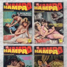 Tebeos: HAMPA - LOTE DE 4 CÓMICS - NºS 2-6-7-9 - ED. ZINCO - 1988. Lote 129504815