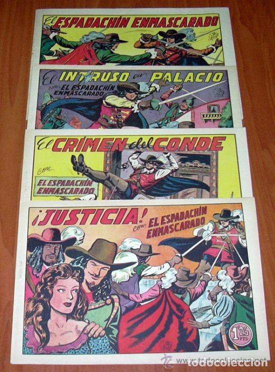 EL ESPADACHIN ENMASCARADO - EDITORIAL VALENCIANA 1952 - COMPLETA, 252 CUADERNOS NUEVOS SIN ABRIR (Tebeos y Comics - Tebeos Colecciones y Lotes Avanzados)