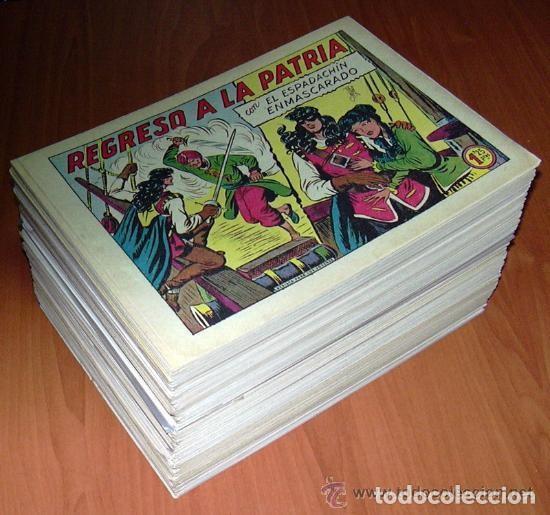 Tebeos: El espadachin enmascarado - Editorial Valenciana 1952 - Completa, 252 cuadernos nuevos sin abrir - Foto 2 - 130188123