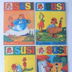 Tebeos: SUSI ( LOS 4 PRIMEROS EJEMPLARES ) COLECCION EUROINFANTIL AÑO 1968 / EUREDIT. Lote 130508674