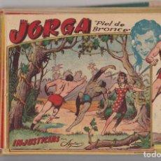 Tebeos: JORGA, PIEL DE BRONCE. (1 PTA) RICART 1954. COMPLETA 18 EJEMPLARES. DIFÍCIL SUELTA. CONSERVACIÓN: LA. Lote 131346259