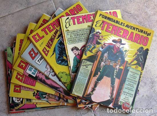 EL TEMERARIO - EDITORIAL VALENCIANA 1950 - COMPLETA 38 TEBEOS SIN ABRIR (Tebeos y Comics - Tebeos Colecciones y Lotes Avanzados)