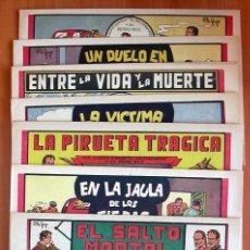 Tebeos: ALBERTO ESPAÑA Y SU PERRO NICK (DE 1 PTA) - EDITORIAL VALENCIANA 1949 - COMPLETA, 8 TEBEOS SIN ABRIR. Lote 132065778