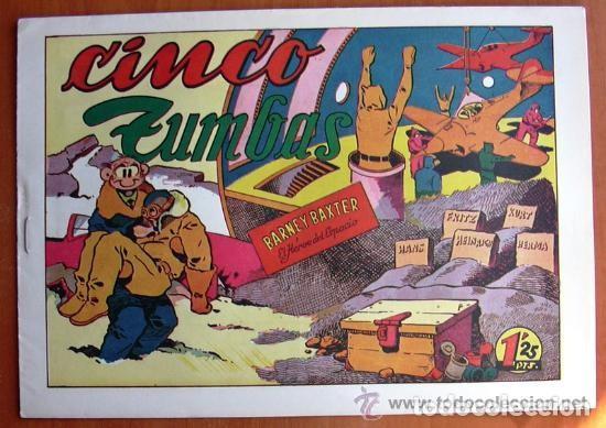 Tebeos: Barney Baxter - Editorial Valenciana 1950 - Completa 12 tebeos - Foto 3 - 132066306