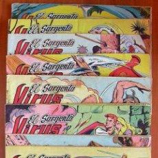 Tebeos: EL SARGENTO VIRUS - EDITORIAL VALENCIANA 1962 - COMPLETA, 24 TEBEOS. Lote 132066846