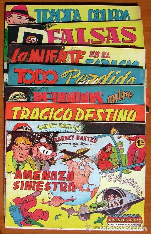 BARNEY BAXTER - EDITORIAL VALENCIANA 1960 - COLECCIÓN COMPLETA, 12 TEBEOS SIN ABRIR (Tebeos y Comics - Tebeos Colecciones y Lotes Avanzados)