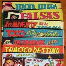 Tebeos: BARNEY BAXTER - EDITORIAL VALENCIANA 1960 - COLECCIÓN COMPLETA, 12 TEBEOS SIN ABRIR. Lote 132067122