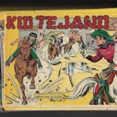 Tebeos: KID TEJANO, AÑO 1.961. COLECCIÓN COMPLETA SON 55. TEBEOS. SON ORIGINALES TENGO 48 TEBEOS SIN ABRIR. Lote 131672342
