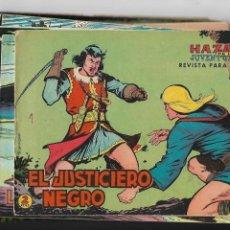 Tebeos: EL JUSTICIERO NEGRO, AÑO 1.965. COLECCIÓN COMPLETA SON 24. TEBEOS ORIGINALES NUEVOS A. GUERRERO. Lote 131689650