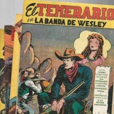 Tebeos: EL TEMERARIO, AÑO 1950 COLECCIÓN COMPLETA SON 26 TEBEOS SIN ABRIR ORIGINALES DE M. GAGO. Lote 131653282