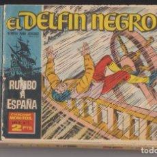 Tebeos: EL DELFÍN NEGRO. IBERO MUNDIAL 1962. COMPLETA 42 EJEM-PLARES. CONSERVACIÓN: DEL Nº 2 AL Nº 42, COMPL. Lote 132298303