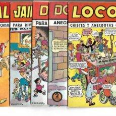 Tebeos: COLECCIÓN CASCABEL, AÑO 1950 COLECCIÓN COMPLETA, SON 6 TEBEOS ORIGINALES SIN ABRIR DIBUJOS IZQUIERDO. Lote 132476458