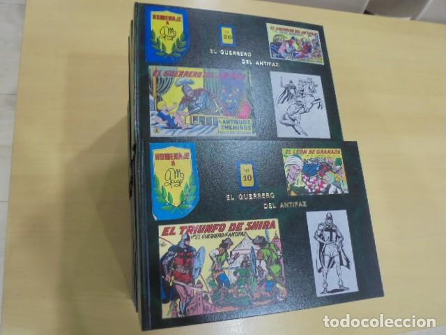 EL GUERRERO DEL ANTIFAZ COMPLETA ENCUADERNADA EN 20 TOMOS (Tebeos y Comics - Tebeos Colecciones y Lotes Avanzados)