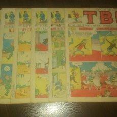 Tebeos: LOTE DEL TBO, 6 NÚMEROS DEL 1965.. Lote 133236382