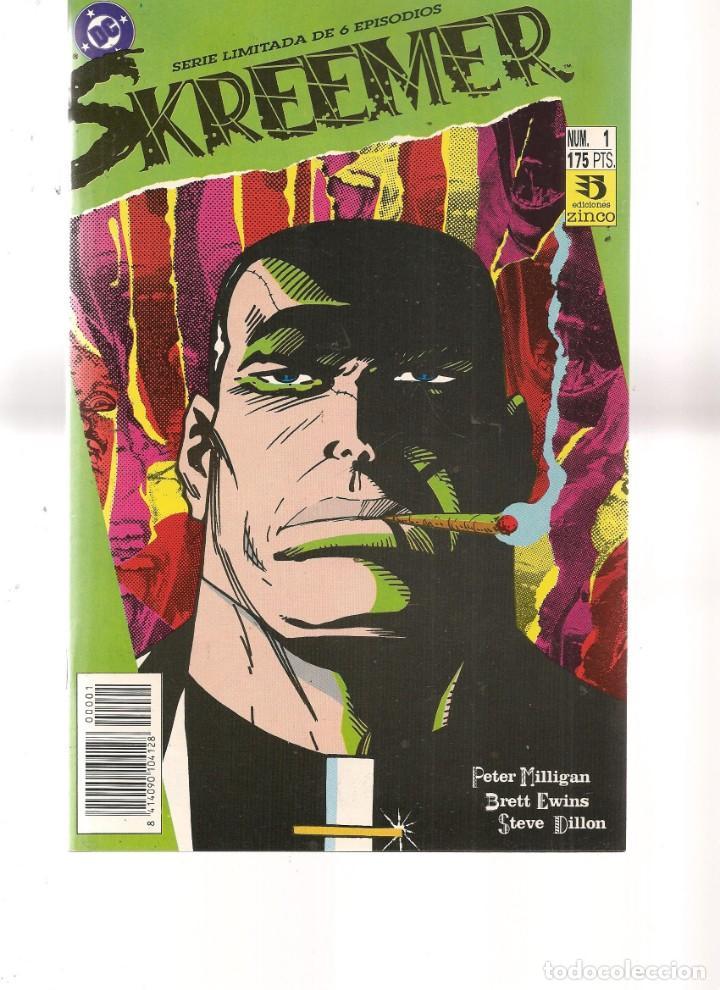 SKREEMER. 6 NROS. ¡¡COLECCIÓN COMPLETA!!. DC/ZINCO. (RF.MA) C/12 (Tebeos y Comics - Tebeos Colecciones y Lotes Avanzados)