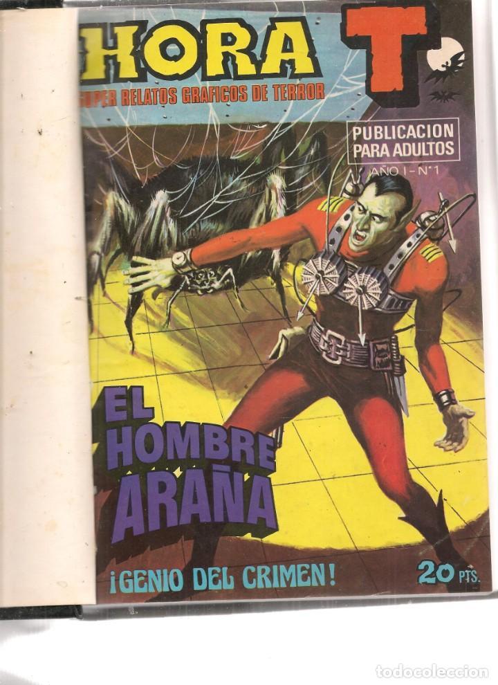 HORA T. SUPER RELATOS GRÁFICOS DE TERROR. 11 NROS. ¡¡COMPLETA!!. EN UN TOMO. BRUGUERA. (RF.MA) B/12 (Tebeos y Comics - Tebeos Colecciones y Lotes Avanzados)