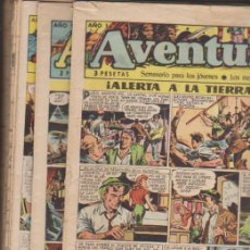 Tebeos: EL AVENTURERO. CLIPER 1953. COMPLETA 38 EJEMPLARES. CONSERVACIÓN: LA MAYORÍA NORMAL, HAY BUENO Y LOM. Lote 134727717