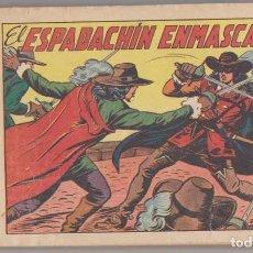 Tebeos: EL ESPADACHÍN ENMASCARADO. VALENCIANA 1952. COMPLETA. Lote 134727841