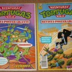 Tebeos: AVENTURAS TORTUGAS NINJA REVISTA POSTERS GIGANTE-ZINCO 1990-LOTE CON EL Nº 1 Y Nº 2-IMPORTANTE LEER. Lote 135113806