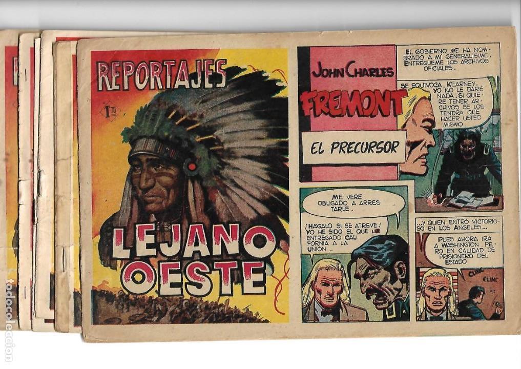 REPORTAJES LEJANO OESTE AÑO 1955 COLECCIÓN COMPLETA SON 6 TEBEOS ORIGINALES MUY DIFICIL DE COMPLETAR (Tebeos y Comics - Tebeos Colecciones y Lotes Avanzados)