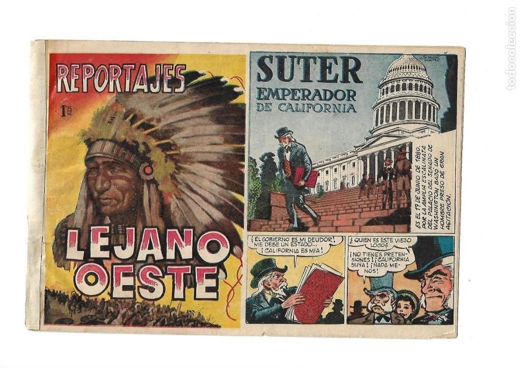 Tebeos: Reportajes Lejano Oeste Año 1955 Colección Completa son 6 Tebeos Originales muy dificil de Completar - Foto 2 - 135291122