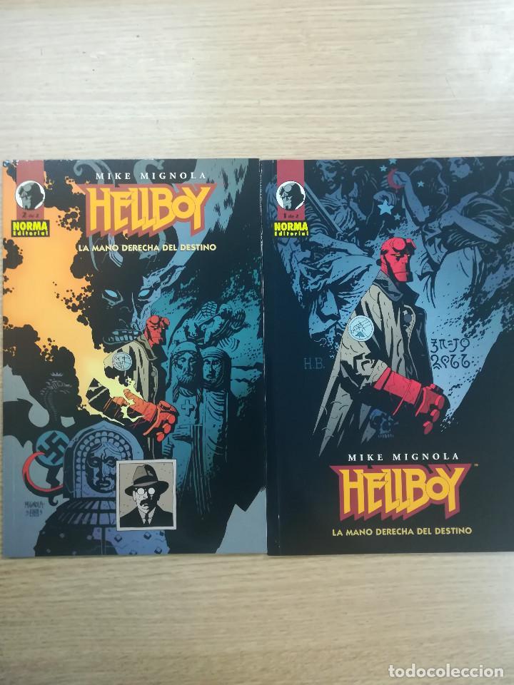HELLBOY LA MANO DERECHA DEL DESTINO COLECCION COMPLETA (2 TOMOS) (Tebeos y Comics - Tebeos Colecciones y Lotes Avanzados)
