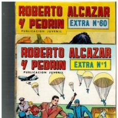 Tebeos: ROBERTO ALCÁZAR Y PEDRÍN EXTRA. COLECCIÓN DE 60 NÚMEROS. AQUÍ LOTE DE 55.VALENCIANA,1976.. Lote 136282846