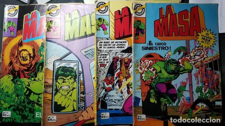 LA MASA (HULK) - EDITORIAL BRUGUERA (1981) NºS 6, 7, 11 Y 17 (Tebeos y Comics - Tebeos Colecciones y Lotes Avanzados)