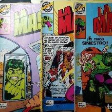 Tebeos: LA MASA (HULK) - EDITORIAL BRUGUERA (1981) NºS 6, 7, 11 Y 17. Lote 136511974