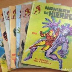 Tebeos: COLECCION COMPLETA HOMBRE DE HIERRO 7 EJEMPLARES EDITORIAL VERTICE MUNDI COMIC LINEA83. Lote 136718726