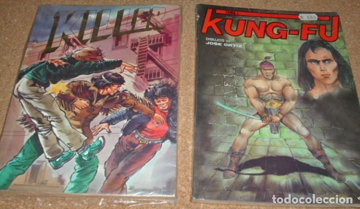 LOTE KUNG FU RETAPADO Nº 1 Y PRECINTADO DE JOSE ORTIZ + KILLER RETAPADO- LIQUIDACION-IMPORTANTE LEER (Tebeos y Comics - Tebeos Pequeños Lotes de Conjunto)