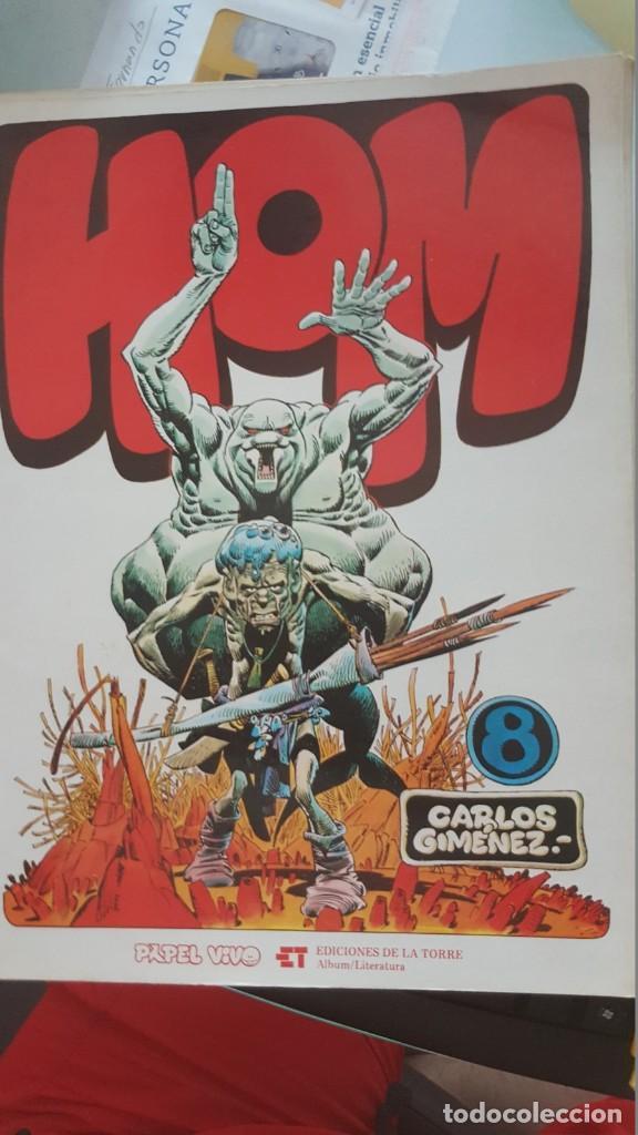 HOM - CARLOS GIMÉNEZ - Nº 8, (1ª EDICIÓN 1979) PAPEL VIVO, EDICIONES DE LA TORRE (Tebeos y Comics - Tebeos Colecciones y Lotes Avanzados)