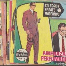 Tebeos: HÉROES MODERNOS SERIE C. DÓLAR 1963. COMPLETA 75 EJEMPLARES. Lote 137522376