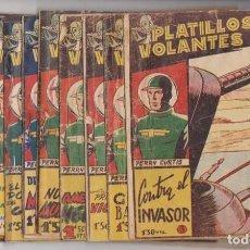 Tebeos: PLATILLOS VOLANTES. RICART 1955. COLECCIÓN A FALTA DEL Nº 1 Y 2. Lote 137524380