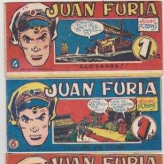 Tebeos: JUAN FURIA. DE HARO 1951. LOTE DE 16 EJEMPLARES. COLECCIÓN A FALTA DE 11 NÚMEROS. Lote 137526186