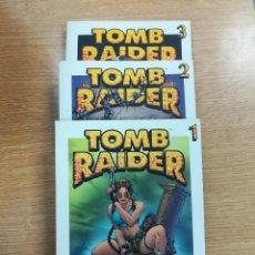 Tebeos: TOMB RAIDER (BIBLIOTECA GRANDES HEROES DEL COMIC - EL MUNDO) COLECCION COMPLETA (3 TOMOS). Lote 137972548