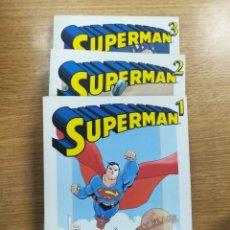 Tebeos: SUPERMAN (BIBLIOTECA GRANDES HEROES DEL COMIC - EL MUNDO) COLECCION COMPLETA (3 TOMOS). Lote 137972661
