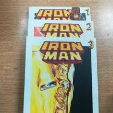 Tebeos: IRON MAN (BIBLIOTECA GRANDES HEROES DEL COMIC - EL MUNDO) COLECCION COMPLETA (3 TOMOS). Lote 137972862